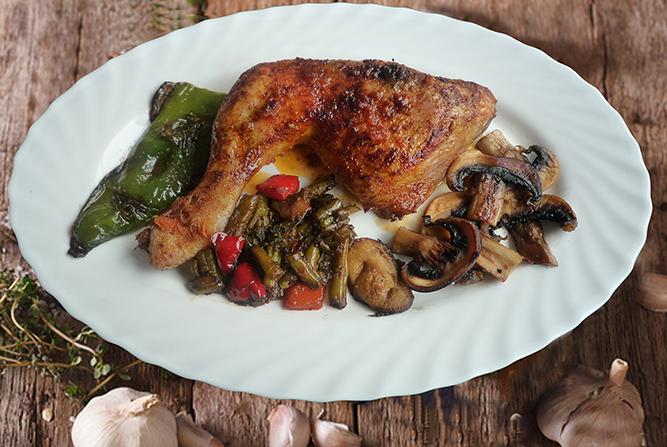 Receta de muslo de pollo asado a la parrilla baja en carbohidratos
