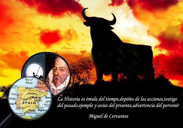Foto España y Cervantes